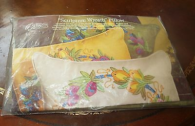 Vintage Paragon Sculpture Wreath Pillow Kit Opened Resealed