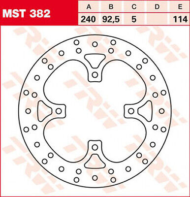TRW/ Lucas Brake disc with ABE for Yamaha YP 125 250 X-Max