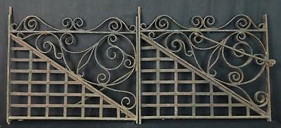 Pair of Antique Ornate Cast Iron Garden Gates