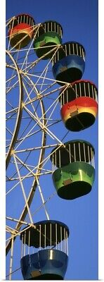 Poster Print Wall Art entitled Low angle view of ferris wheel