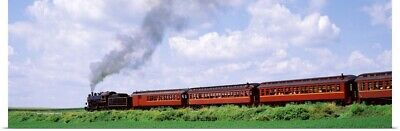Poster Print Wall Art entitled Train moving on a railroad track, Strasburg,