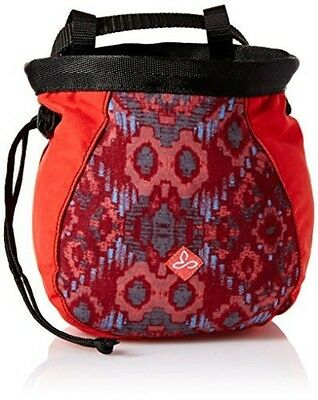 prAna Women's Large Chalk Bag With Belt, One Size, Red Charmer