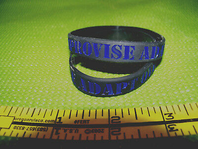 Thin Blue Line Police- 2 Bracelets Deal! - IMPROVISE  ADAPT  OVERCOME -