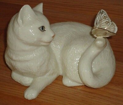 "Lenox ""ENCHANTMENT"" Cat & Butterfly Figurine"