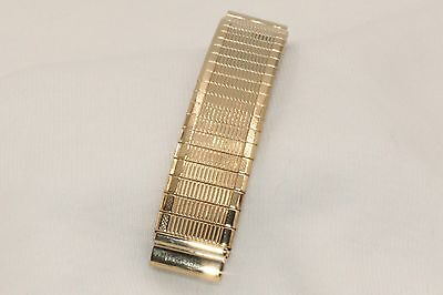 """Mens 3 & 1/8"""" Gold Fill Stretch Watchband for Native American Indian Watch"""