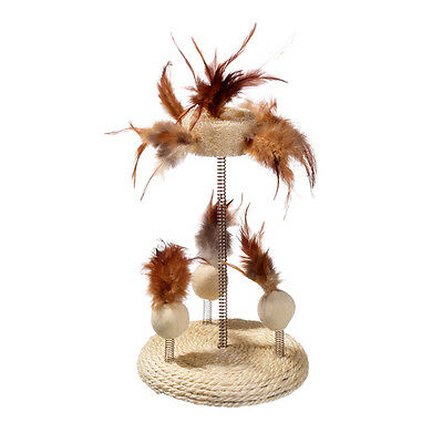 Karlie Jouets Pour Chats Naturel Chat Toy Sisal & Luffa Stand, NEUF