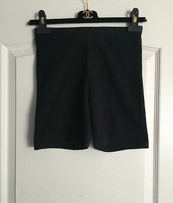 American Apparel Cotton Spandex Jersey Cycle Bike Shorts Black Size Small
