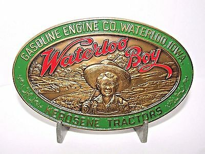 Gasoline Engine Co Waterloo Boy Brass Belt Buckle 1990 John Deere Limited Ed NEW