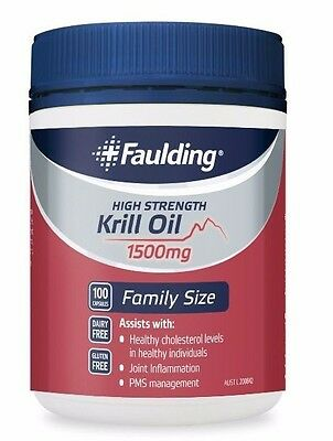 Krill Oil High Strength 1500mg (100 capsules total)