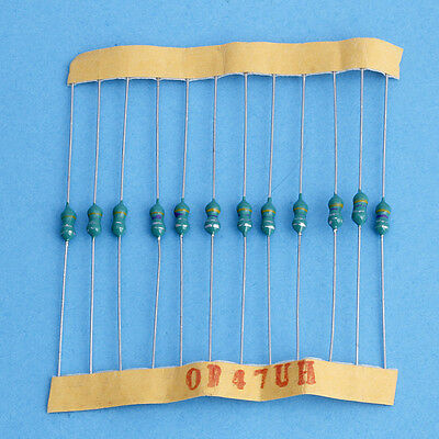 120Pcs 10-Value 1/4W 0.1uH-1mH ColorCode Wheel Inductor Loop Inductance Set New