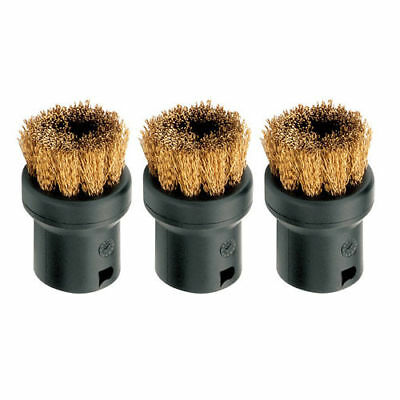Genuine Karcher  Sc 3 Multi Steam Cleaner, Brass Bristle Brush Set, 3 Brushes