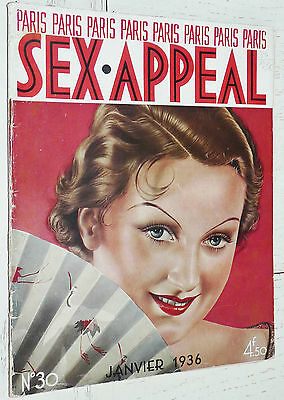Paris Sex Appeal N°30 Janvier 1936 Charme Photos Erotisme + Page Poster Couleurs