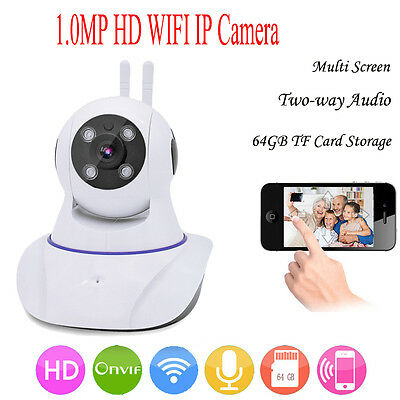 1.0MP Two-way Audio Chatting 720p Baby Phone Camera WiFi IP Security Pan Camera