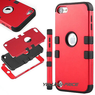 Hard Sheild For iPod Touch 6 5th Gen TRIPLE HIGH IMPACT ARMOR CASE HYBRID COVER