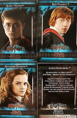 Harry Potter: Heroes And Villans Trading Cards Base Set X54 (1-54)