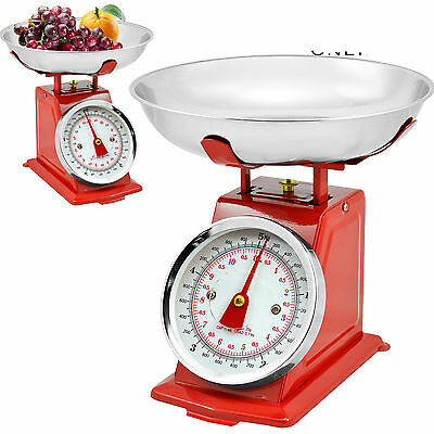 New 5 Kg Traditional Weighing Kitchen Scale Bowl Retro Scales Mechanical Vintage