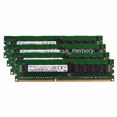 Samsung 32GB 4X8GB 1RX4 PC3-14900R DDR3 1866mhz Only ECC Server REG Memory Ram