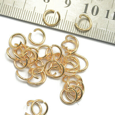 400pc 5/6/7/8mm Open Jump Rings Link Loop DIY Jewelry Making Connector Gold