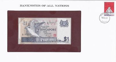 Banknotes of All Nations, Singapore 1 dollar,1976, P9, Uncirculated