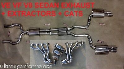 "Holden Commodore Ss Ssv Ve Vf V8 6.0L Sedan Exhaust 3"" Extractors Headers Cats"