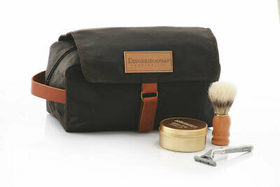 Didgeridoonas Australian Dilly Bag toiletry & cosmetic oilskin water repellent