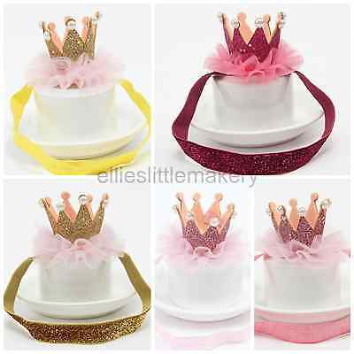 Princess Baby Girls Crown Tiara Headband Hairband Birthday Cake Smash Photo