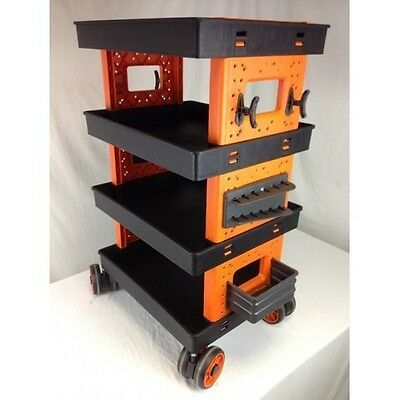 Mobile Workcart - Objects Carrying Garage Shelving Trolley 820x480x380mm