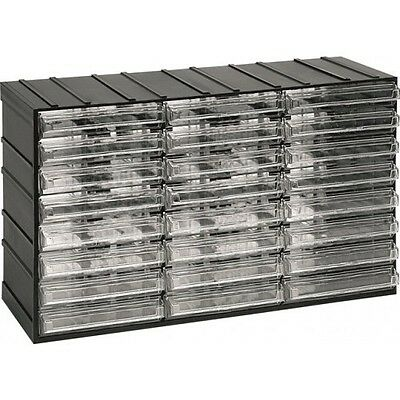 Visible Storage Container Box with 24 Transparent Drawer Bins - 382x148x230mm