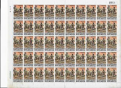 1/2 cent St Christopher Nevis : Anguilla Sheet of 50 MNH stamps (lot 1)