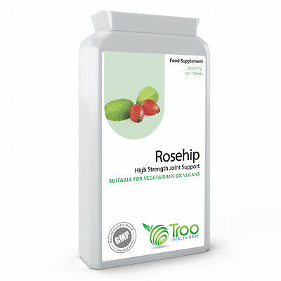 Rosehip Extract 5000mg 120 Tablets - High Strength Rosehip Oil Powder for Joints