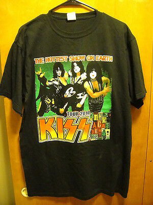 KISS ~ Large ~ Tour 2010 ~ The HOTTEST Show on EARTH ~ 2 Sided T Shirt