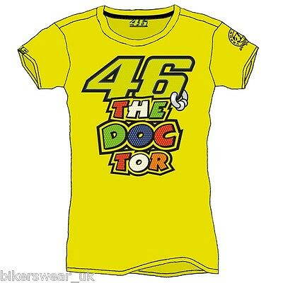 VR46 Valentino Rossi The Doctor Moto GP T Shirt Casual LADIES Top VRWTS 205501