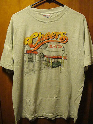CHEERS BAR BOSTON MA ~ XL ~ Vintage 1995 ~ USA MADE ~ T Shirt NORM!