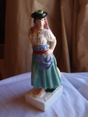 Vintage Continental Porcelain Gypsy Lady Girl Figure Figurine