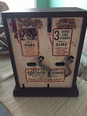 Vintage Postage Stamp Machine Co. NY Vending Machine last used aprox. 1968