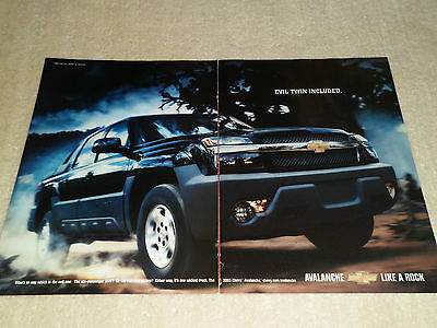 2002 CHEVROLET AVALANCHE article / ad