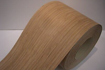 Real wood Veneer Bamboo upright dark with Hot melt adhesive iron-on 30 cm Br