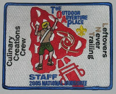 National Jamboree 2005 The Outdoor Adventure Place Staff Pocket Patch  OA  BSA