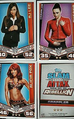 Wwe Slam Attax: Rebellion Trading Card Game  X168 (49-216)
