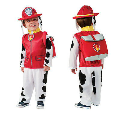 PAW PATROL Toddler SMALL Costume MARSHALL 3-4 year old Fireman Costume Child