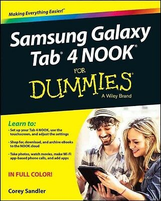 Samsung Galaxy Tab 4 Nook for Dummies by Sandler Paperback Book (English)