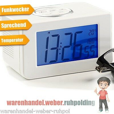 Speaking Clock,Watch for the blind,Talking Watch,Alarm,Radio clock,