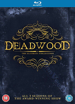 Deadwood (Ultimate Collection) NEW Series Blu-Ray 9-Disc Set Ian McShane