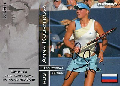 2003 Netpro International Anna Kournikova Autograph