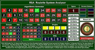 RSA Professional Roulette System Analyser