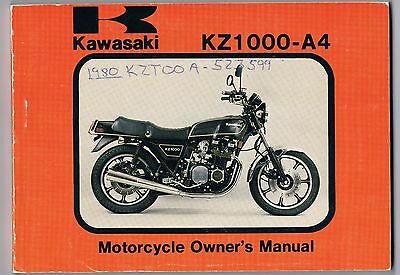 Kawasaki Kz 1000-A4 Owner's Manual Excellent Condition As New