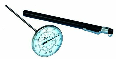 "Supco ST08 Stainless Steel Pocket Dial Thermometer, 5"" Stem, 1-3/4"" Dial, -40 to"