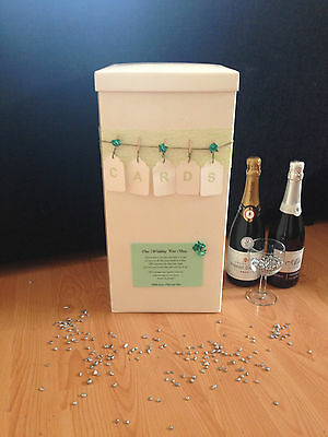 Personalised Wedding Card Post Box - Pegs & Tags - Green