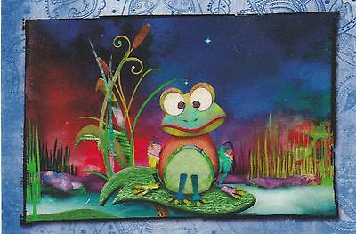 Vignette Patch tissu thermocollant Forêt Grenouille Iron-on patch Frog