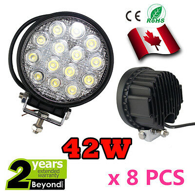 8x 42W phares de travail spot Beam Led Work Light Off-road Truck Boat 4WD SUV